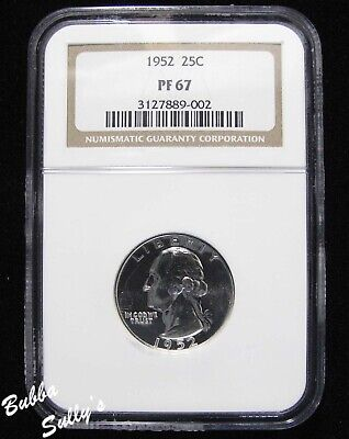 1952 Washington Quarter <> NGC PF 67