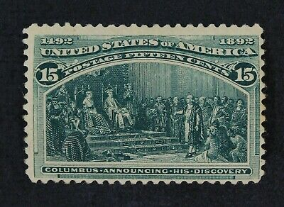 CKStamps: US Stamps Collection Scott#238 15c Columbian Unused Regum