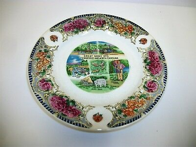 Vintage Scenic Souvenir Plate - Great Smoky Mountains Tennessee North Carolina