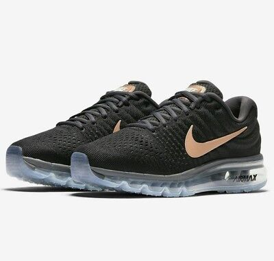 super popular c2c2a bf64a WOMENS NIKE AIR MAX 2017 Running Shoes -Black/Bronze -849560 008 -Sz 8 -New