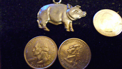 bling PEWTER MYTH LEGEND FASHION JEWELRY fat pig animal charm necklace JEWELRY