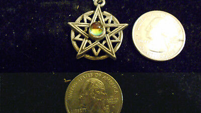 bling pewter MYTH celt goth druid 5 POINT up STAR pendant charm necklace JEWELRY