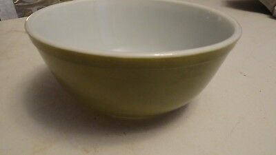 "Vintage Pyrex Verde Avocado Green #403 2-1/2 QT Mixing Bowl 9"" FREE SHIPPING!!"