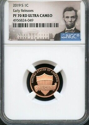2019 S Lincoln Penny Early Releases NGC PF70 RD Ultra Cameo (Portrait Label)
