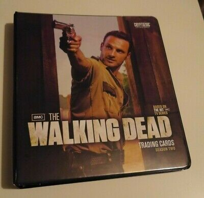 THE WALKING DEAD Seasons 2 Official Binder  With Binder Wardrobe Card