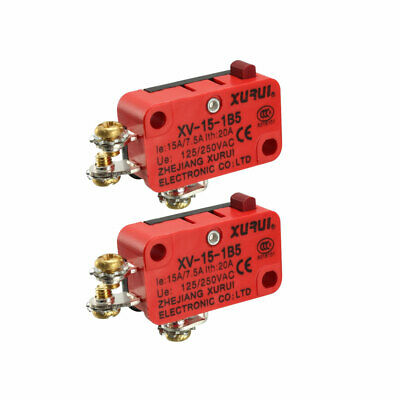 XURUI Authorized 2Pcs Push Button Action Micro Limit Switches with
