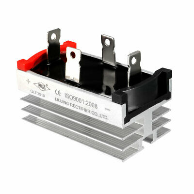 QLF3510 1000V 35A Single Phase 4-Pin Aluminum Heatsink Bridge Rectifier Diode