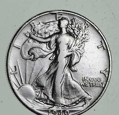 Strong Feather Details - 1940 Walking Liberty Half Dollars - Huge Value *455