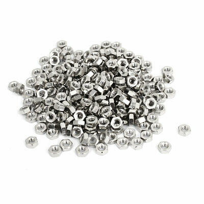 500pcs M3 Stainless Steel Metric Machine Hex Hexagon Nuts for Screws Bolts