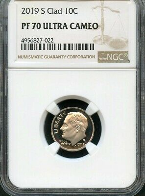 2019 S Clad Roosevelt Dime NGC PF70 Ultra Cameo (Brown Label)