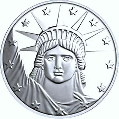 ONE OUNCE SILVER LIBERTY ROUND - .999 PURE SILVER BULLION, NO RESERVE, free ship