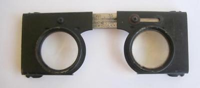 WWII Antique US Army Metal Map Magnifying Reading Glasses Q.O.S. Corp NY 1939-45