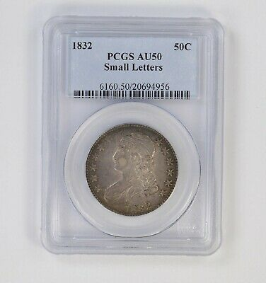 AU50 1832 Capped Bust Half Dollar - Small Letters - PCGS Graded *6372
