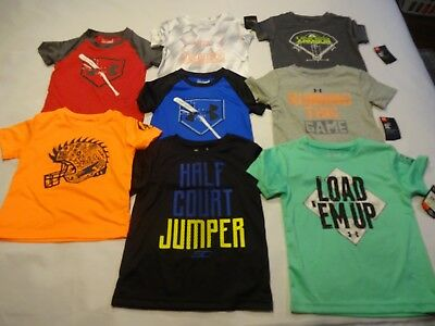 NEW Toddler Boys Under Armour Short Sleeve Shirt, 2T, 3T, 4T     Free Shipping!