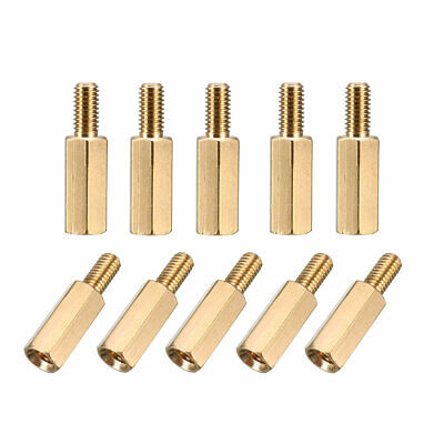 100pcs M3 11+6mm Female Male Thread Brass Hex Standoff Spacer Screws PCB Pillar
