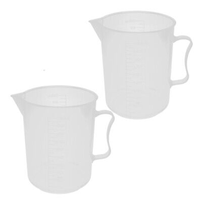 Kitchen Lab 1000mL Plastic Measuring Cup Jug Pour Spout Container 2pcs
