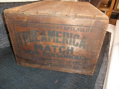 Antique DIAMOND MATCH Co. WOOD SHIPPING CRATE Box Advertising