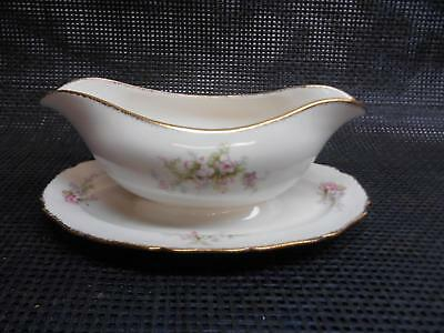 Antique CANONSBURG CHINA GRAVY BOAT Heather Pattern Dinnerware Replacement Old