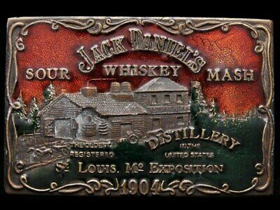 IJ19140 SWEET VINTAGE 1970s ***JACK DANIEL'S WHISKEY*** BOOZE BELT BUCKLE