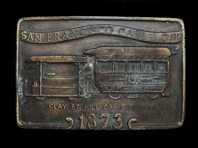NC29144 VINTAGE 1970s **SAN FRANCISCO CABLE CAR** BELT BUCKLE