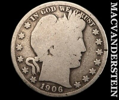 1906-D Barber Half Dollar-Scarce Better Date!!  #e2981
