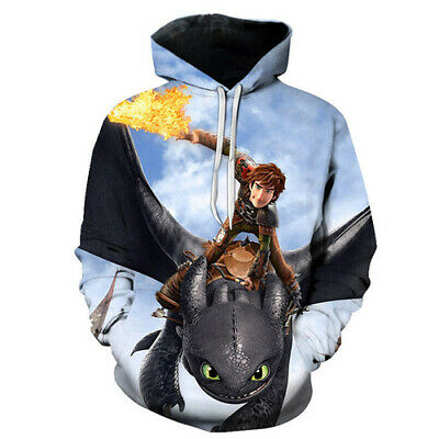 3D Print Film How To Train Your Dragon Hoodie Women Men Pullover Sweatshirt Tops