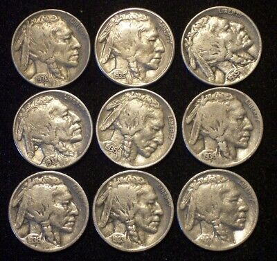 Coin Lot: High Grade 1935-S and 8 Different Buffalo Head Nickels