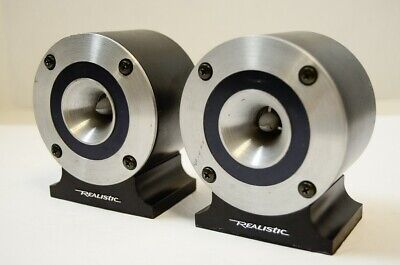 Pair Realistic Super Tweeter 40-1310A Bullet Horn 8 ohm Tested w/audio 7 ohm DCR