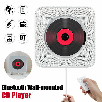 Wall Mounted Bluetooth CD Player FM Radio MP3 Music Player Remote Control