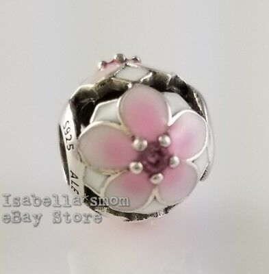 a5e3976bd MAGNOLIA BLOOM Authentic PANDORA Pink Enamel FLOWER Charm 792087PCZ NEW w  POUCH!