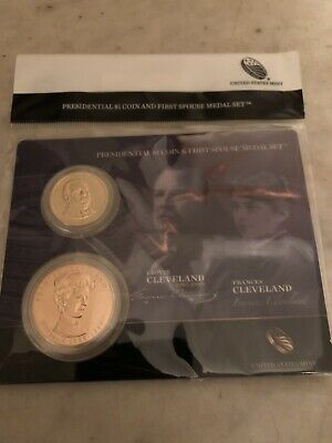 2012 US Mint Presidential $1 Coin & First Spouse Medal Set • Grover Cleveland