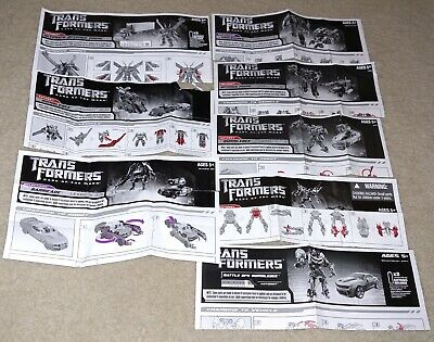 LOT Transformers Dark of the Moon Action Figure Instructions Instruction Manuals