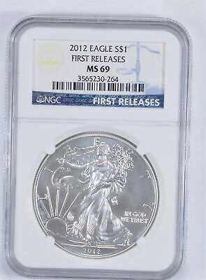 MS69 First Releases 2012 American Silver Eagle - Graded NGC *884