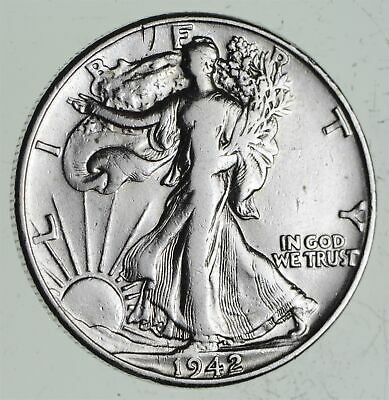 Strong Feather Details - 1942 Walking Liberty Half Dollars - Huge Value *572