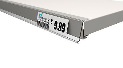 50 Pcs x Top Tape Data Strip Price Label Holder for Retail Shelving - Clear
