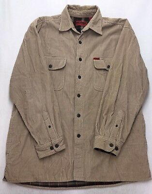 9211271f05 A45 Wolverine Flannel Lined Corduroy Jacket Camp Shirt Men s sz Large