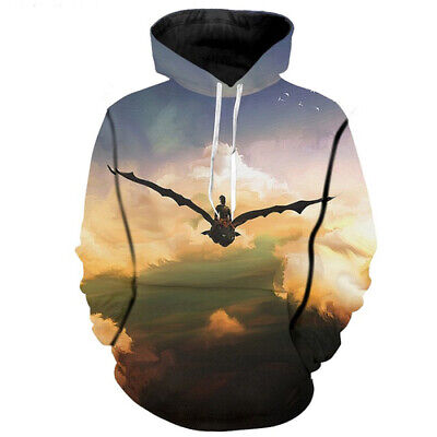 3D Print How To Train Your Dragon Fashion Women Men Hoodies Pullover Sweatshirts