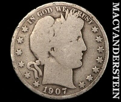 1907 Barber Half Dollar-Scarce Better Date!!  #e2984