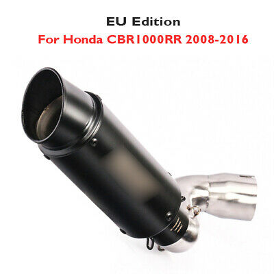 Slip on Exhaust System Tip Muffler Middle Link Connect Pipe for Honda CBR10000RR