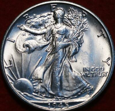 Uncirculated 1945-S San Francisco Mint Silver Walking Liberty Half