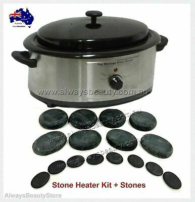 Hot Stone Heater 6Q + Free Stones for Spa Hot Stones Massage Aussie Seller