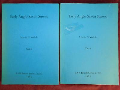 EARLY ANGLO-SAXON SUSSEX by WELCH/ANCIENT ENGLAND/2 BIG BOOKS/RARE 1983, $170