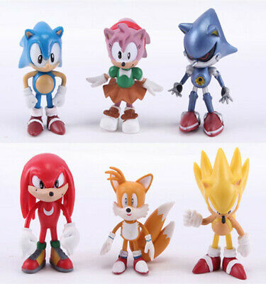 6 Sonic Boom Sonic The Hedgehog Amy Tails Action Figure Set Doll Toy Cake Topper 6 92 Picclick