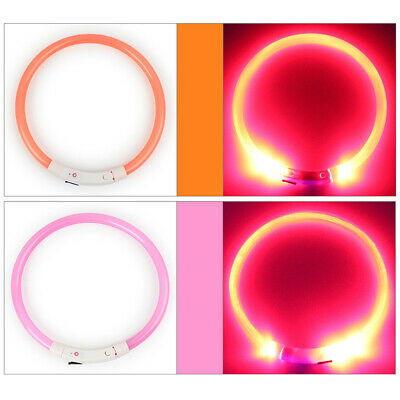Rechargeable USB Charging LED Night Flashing Luminous Pet Dog Neck Collar Striki