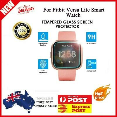 5pc 0.3mm Tempered Glass Screen Film Protector For Fitbit Versa Lite Smart Watch