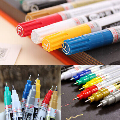 0.7mm Marker Pen Waterproof Painting For Paper Glass Stone Wood Rubber Acc Tool