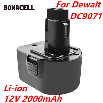 2000mAh DC9071 Cordless Battery For Dewalt DW9072 DW9071 DE9037 DE9074 DE9071 HT