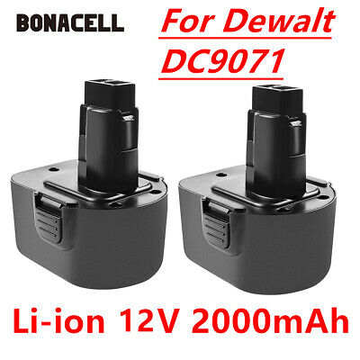 2 x 2000mAh DC9071 Battery For Dewalt DW9072 DW9071 DE9037 DE9074 DE9071 HT