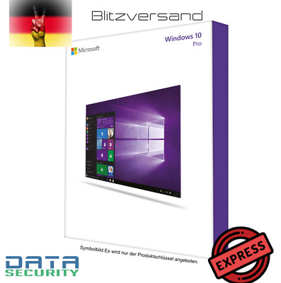 Microsoft Windows 10 Pro Win 10 pro 64Bit Vollversion Key + Downloadlink -+