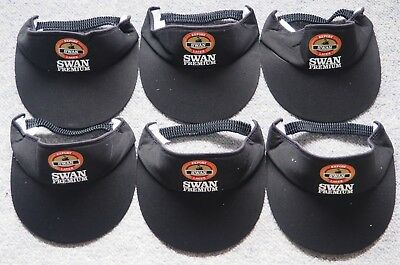 6 x SWAN PREMIUM EXPORT LAGER - BLACK VISOR CAP - NEW &  UNUSED